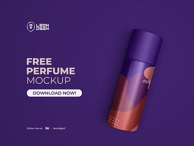 FREE PERFUME MOCKUP unique sport smart object smart simple realistic parfume packaging mockup mock up leon dsgn doff design bottle bauty