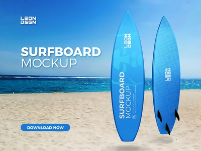 SURFBOARD MOCKUP surfing surfboard surf sport smart objects smart layers new glossy surfboard glossy design cool board mockup board best seller art