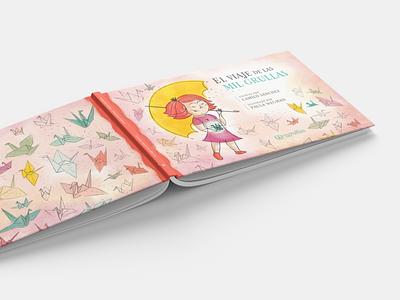 Mil grullas cover ilustracion illustration illustrator cover book