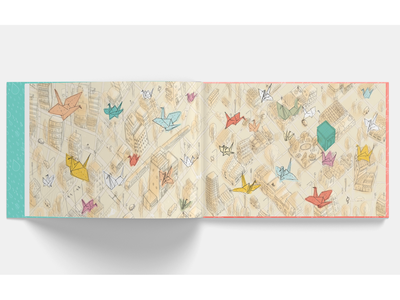 Mil grullas book cranes book love ilustracion illustration