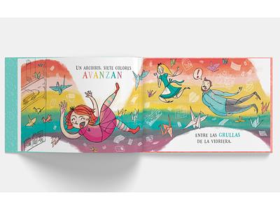Mil grullas book rainbow cranes book dance love ilustracion illustration