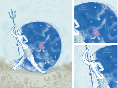 Anfitrite womenpower underwater poseidon anfitrite ocean sea woman childrens book children book illustration digital childrens illustration love ilustracion illustration