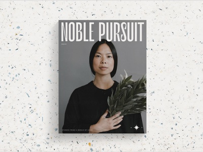 Noble Pursuit Branding + Masthead editorial design editorial masthead logo magazine design magazine cover magazine brand identity