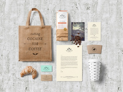 Redeeming Grounds Branding and Packaging branding packaging logo coffee stationary identity system