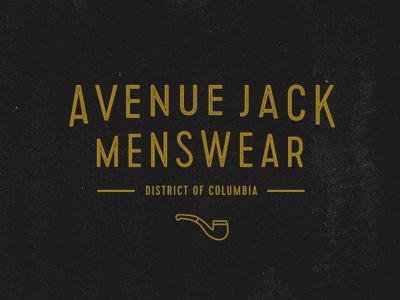 Avenue Jack Logo Concept WIP wip logo branding menswear fashion brand retailer logotype type type treatment
