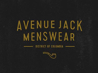 Avenue Jack Logo Concept WIP wip logo branding menswear fashion brand retailer logotype type type treatment