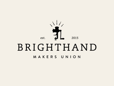 Brighthand Makers Union Logo  brighthand sausage food mark maker grinder logo branding