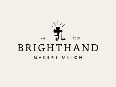 Brighthand Makers Union Logo  brighthand sausage food mark maker grinder logo branding