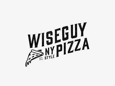 Wiseguy Rebrand WIP ny style ny wip restaurant school old lettering pizza logo branding
