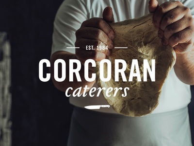 Catering Co. logo concept italics type texture knife chef food catering logo branding