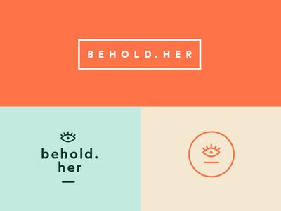 Behold.Her Brand Identity System her eye behold her seal mark women logo branding