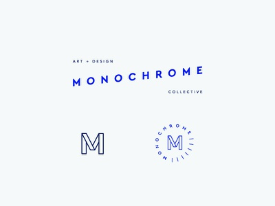 Monochrome Collective m cobalt collective mark logo branding