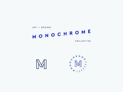 Monochrome Collective m cobalt collective mark logo branding