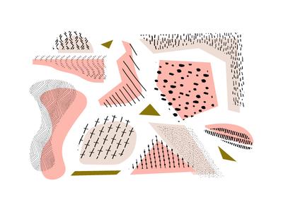 Monochrome Pattern triangles diamonds dashes stripes dots geometric hand drawn pattern pattern