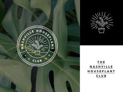 Nashville Houseplant Club WIP pots plants mark badge club nashville houseplant branding logo