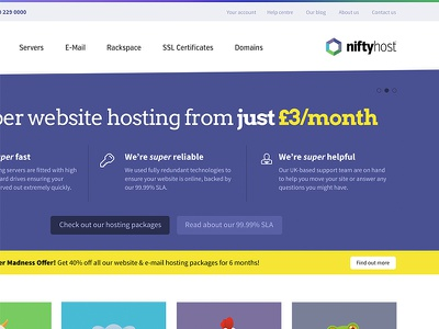NiftyHost Homepage niftyhost
