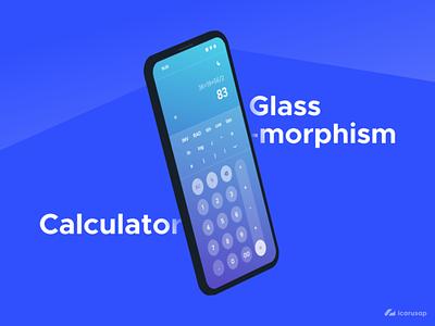 Glassmorphism Calc adobe xd adobexd ui design uidesign uiux ui glassmorphism glass calculator app calculator ui calculator