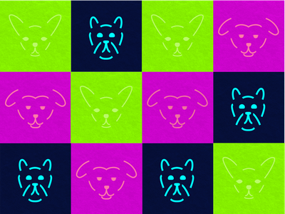 Dogfaces icon illustration vector faces dogs