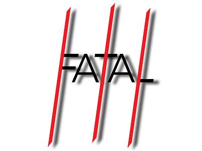 Fatal design typography vector illustrator halloween design