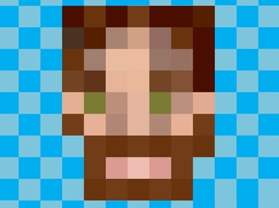 Pixel Portrait grid self portrait pixel pixel art illustrator