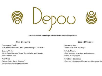 Depou Menu restaurant logo branding indesign typography restaurant branding restaurant menu menu design