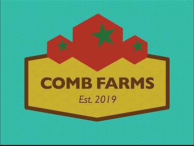 Comb Farms honey comb bee friendly illustration design branding logo illustrator vector