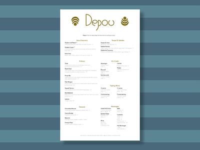 Depou Menu page layout branding illustrator typography