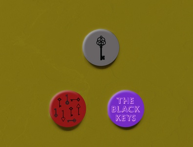 black keys buttons
