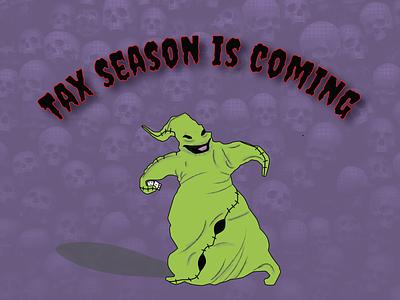 Oogie Boogie Taxes weeklywarmup spooky scary halloween design illustrator vector oogie boogie