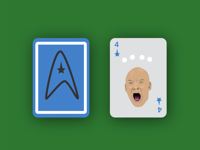 There are Four Lights playingcards playing card next generation sir patrick stewart illustration design vector illustrator weekly warm-up weeklywarmup captain picard picard star trek