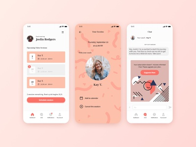Mobile app design - Blush visual design moblieapp ux logo app ui branding design