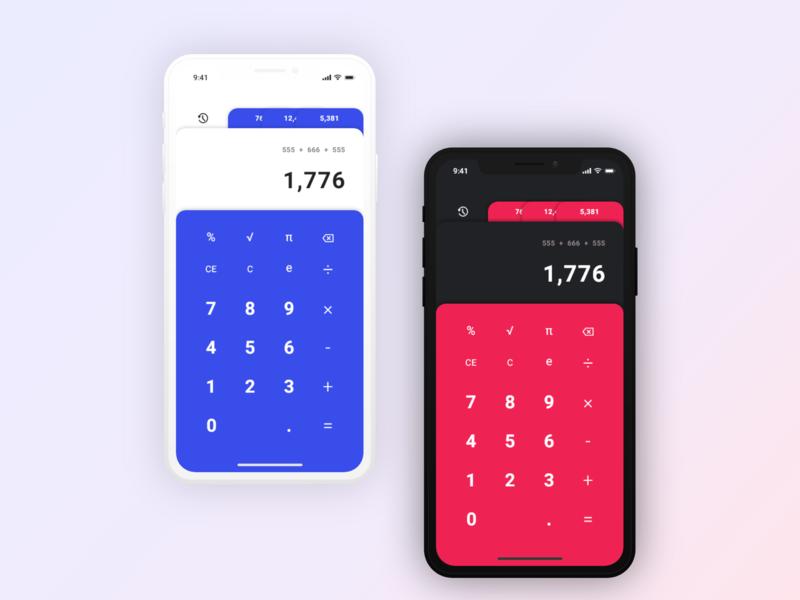 Daily UI - 04 - Calculator calculator 004 mobile dailyui 004 daily 100 challenge daily 100 app ui design