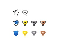 Trophy Icons Designed For Playstation