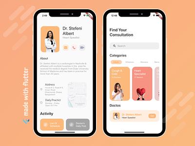 Flutter Doctor App UI flutter app flutter android app design android app ui app ui app design app developer