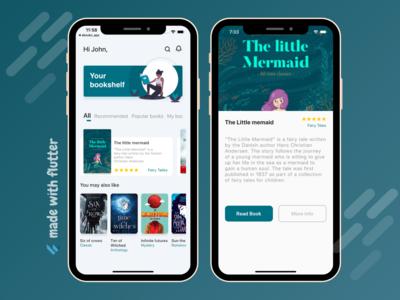 Flutter Book App UI Open Source