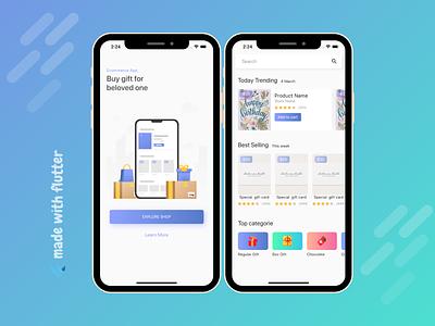 Flutter Ecommerce App UI Design dribble design flutter app ui flutter app development company app developer app designer app app ui app design