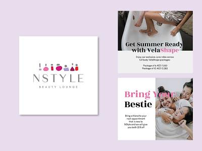 NStyle International branding graphic design design vector illustration social media