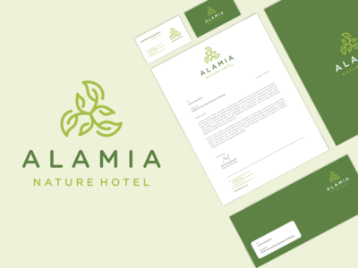 Alamia Nature Hotel Logo Stationery