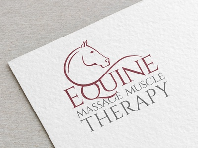 Equine Massage Muscle Therapy Logo Design