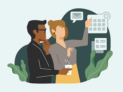 Outstanding support illustration spot illustration website design