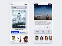 Movie Streaming App streaming movie app mobile sci fi concept neumorphism