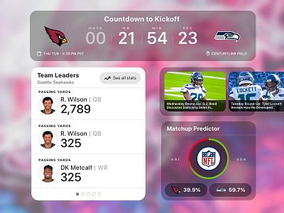 NFL Widgets chart analytics seahawks nfl sports concept design widget mobile ux ui