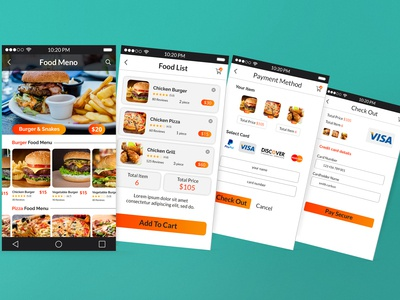 Add to cart UI for Restaurant Food App