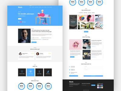 Bindo - Personal Portfolio Landing Page