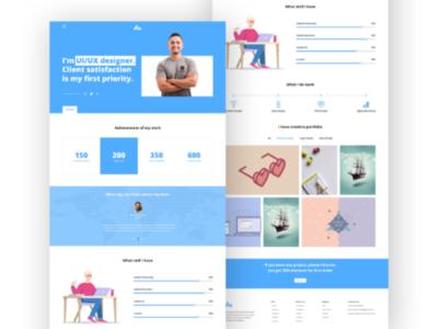 Portfolio Landing Page ux web ui web design minimal responsive clean header page template portfolio landing page home page website design landing page