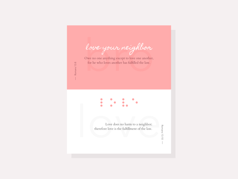Love your neighbor as yourself by fano on Dribbble