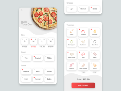 Pizza joint UI
