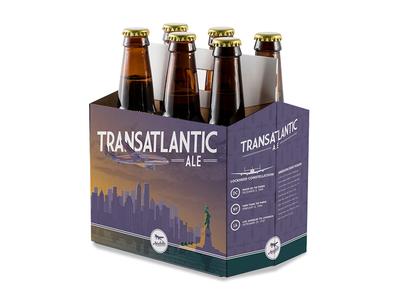 Packaging Design and Illustration- Beer Bottle 6 Pack