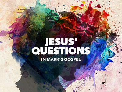 Jesus' Questions Watercolour Silhouette typography illustration sermon series