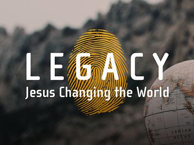Legacy Series branding typography sermon series
